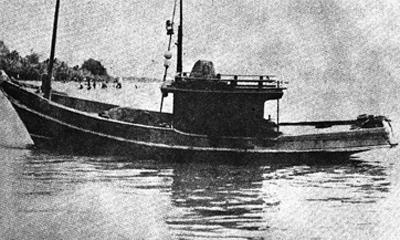 เรือประมงที่พานายปรีดีหนีออกนอกประเทศในปี ๒๔๙๒